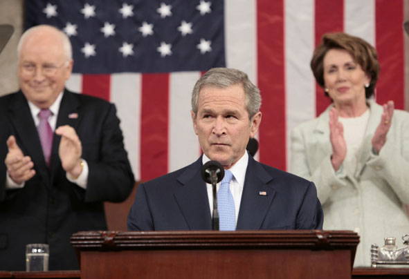 Bush delivers the State of the Union Address in 2007