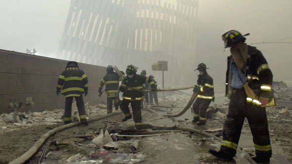 Firefighters in New York on Sept 11