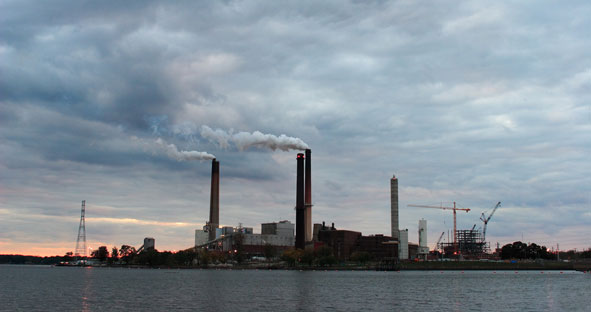 Coal-fired power plant in Illinois