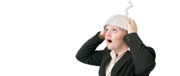 Woman in tin foil hat