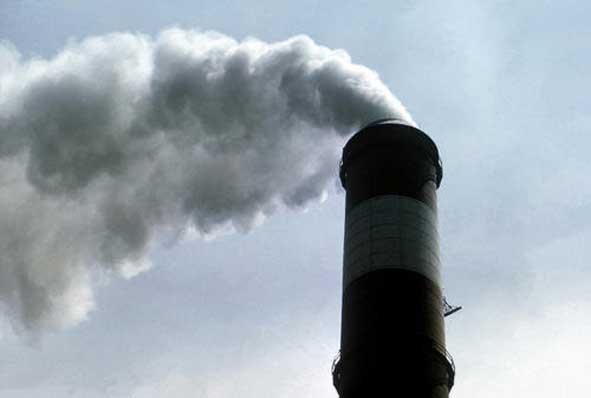 Coal plant smoke stack