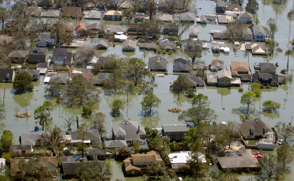 Flooding from Hurricane Katrina in New Orleans