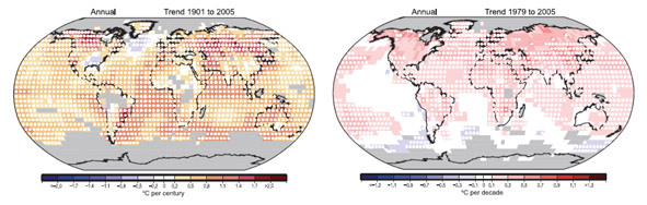 Global Temperature Change Map
