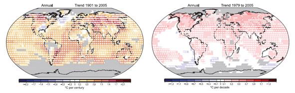 Global Temperature Change Map