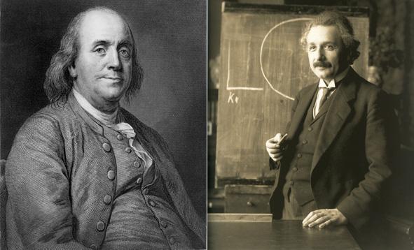 Benjamin Franklin and Albert Einstein