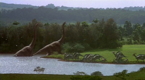 The Parasaurolophus in Jurassic Park and Jurassic World. Jp_591