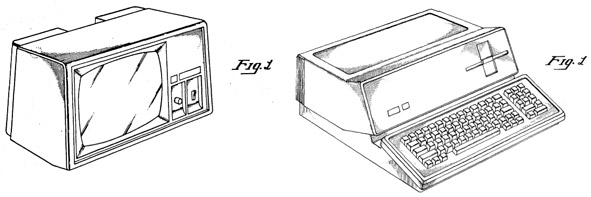 patent figures of 1980s Apple personal computer