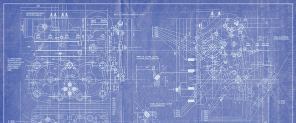 blueprint of complex machine