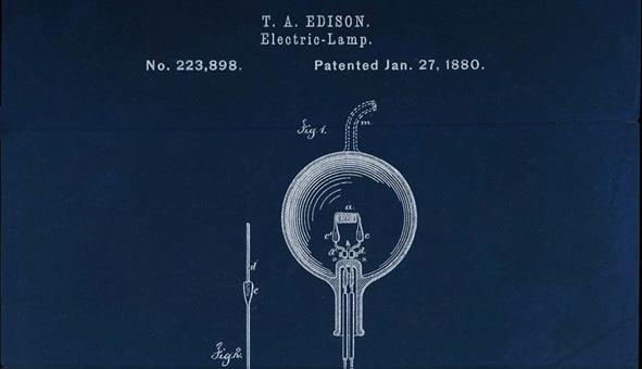edison patent for light blub