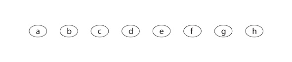 row of 8 multiple choice bubbles, a through h