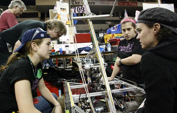 students at the New Jersey First Robotics in 2004