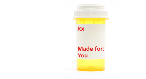 medicine bottle that reads Rx Made for: You