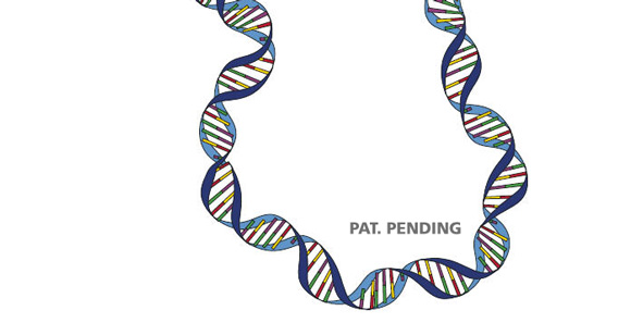 strand of DNA with words Pat. Pending