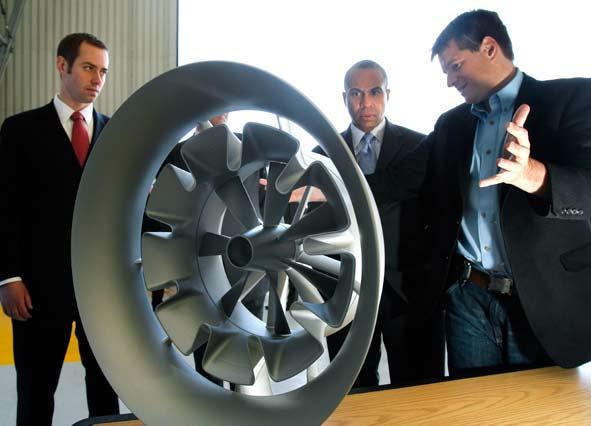 Entrepreneurs Display new wind turbine design